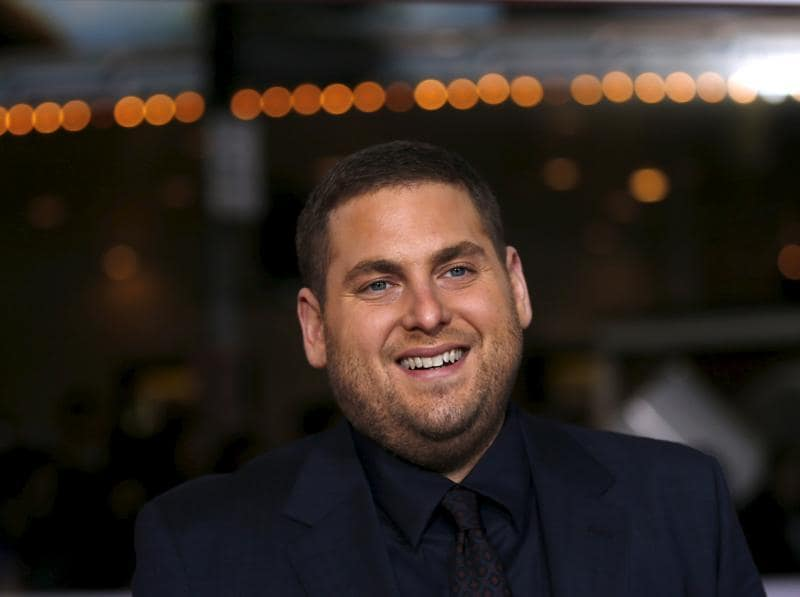 Cast member Jonah Hill poses at the premiere. (REUTERS)