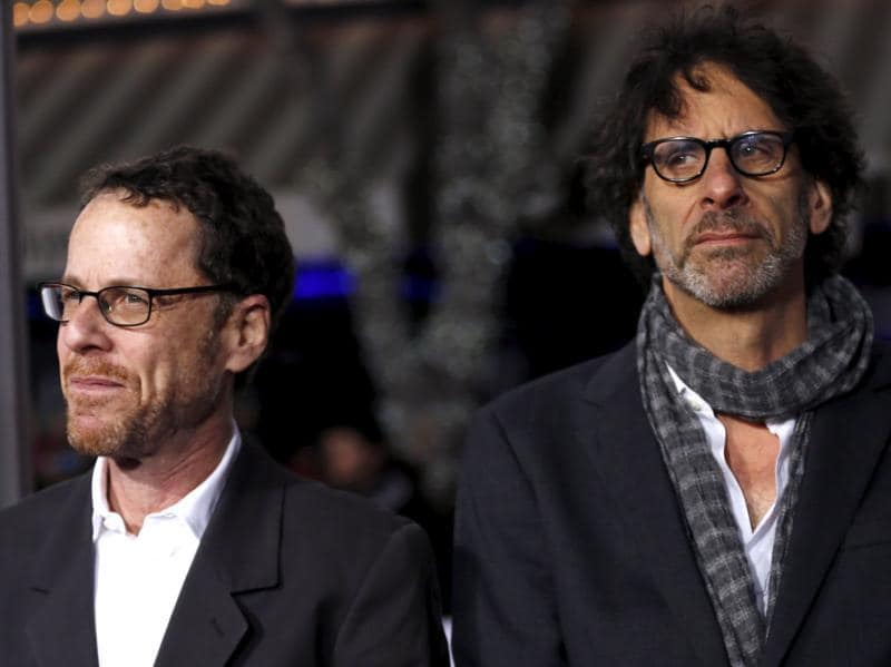 Directors of the movie Ethan (L) and Joel Coen pose at the premiere. (REUTERS)