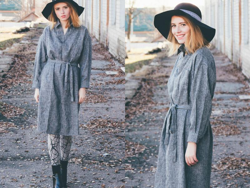 Time to hop on the overcoat trend: Try it out with a casual hat and ankle-length boots.  (LookBook/ AFP)