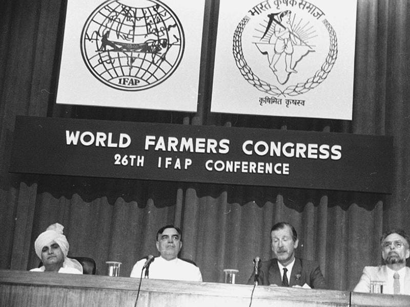 He chaired  26th International Federation of Agricultural Producers conference held in New Delhi in 1984. The meeting  was attended  Balram Jakhar along with  then agriculture minister Rao Birender Singh. (Virendra Prabhakar)