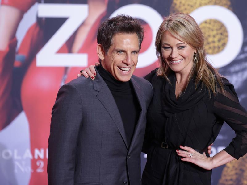 Ben Stiller and wife Christine Taylor pose at the German premiere of Stiller's new film, the sequel to the cult comedy Zoolander.  (AFP)