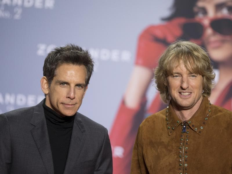 Actors Ben Stiller and Owen Wilson return as the leads of the long-awaited comedy sequel Zoolander No 2. (AP)