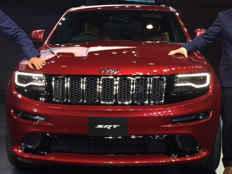Chrysler-owned Jeep said on Wednesday it was making its debut in India with the hope to capitalise on the popularity of sports utility vehicles. Jeep SRT can be seen at the Auto Expo 2016 at Greater Noida in New Delhi on Wednesday.   (Mohd Zakir/HT Photo)