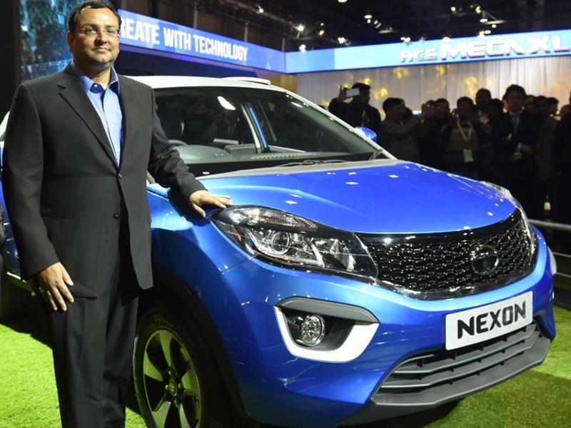 Chairman of Tata Group, Cyrus Mistry, the Nexon at the Auto Expo 2016 in Greater Noida on Wednesday.   (Ravi Choudhary/HT Photo)