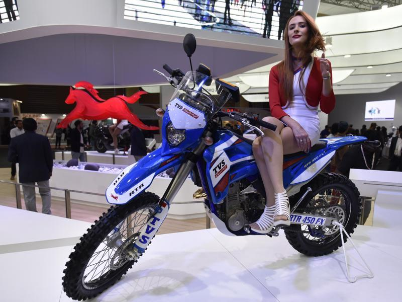 Indian and foreign models have been hired for the auto expo to lend an air of glamour to the event. (Ravi Choudhary/ HT Photo)