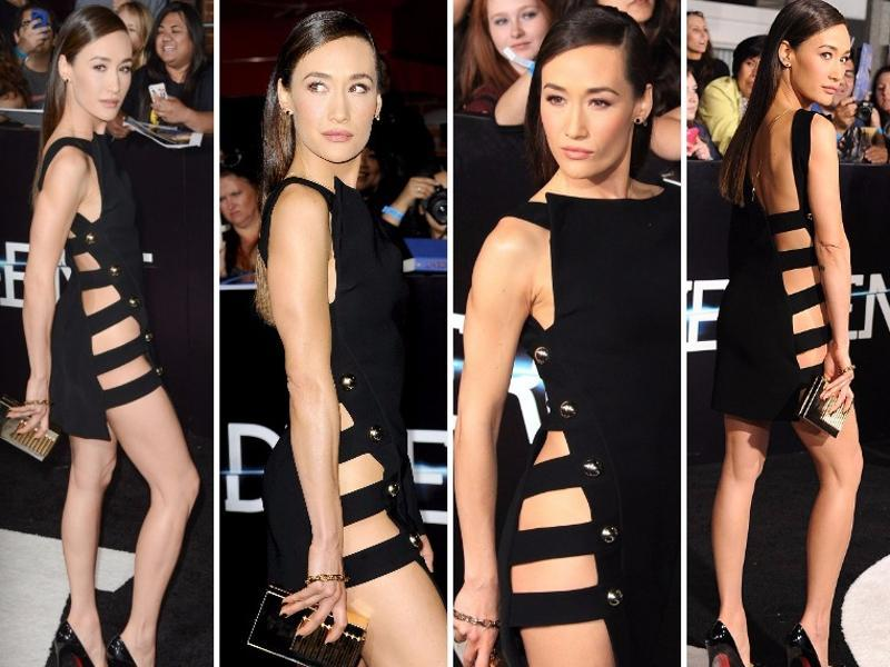 Maggie Q at the Divergent premiere: You need a killer bod to pull this off. Luckily Maggie Q has one. (Instagram/ Pinterest)