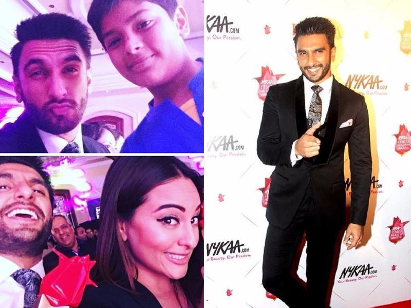 And Ranveer had plenty of sweet selfies to end his Femina awards journey with.  (AFP/ Twitter)