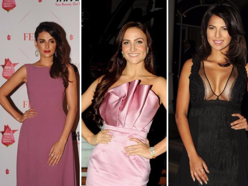 Former Bigg Boss contestants also made their  presence felt, looking rather attractive and flawless (From left):  Mandana Karimi, Eli Avaram and Rochelle Maria. (AFP)