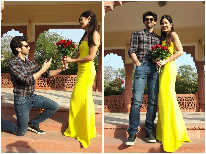 Katrina, Aditya celebrate International Rose Day in Jaipur on February 7, 2016. (HT)