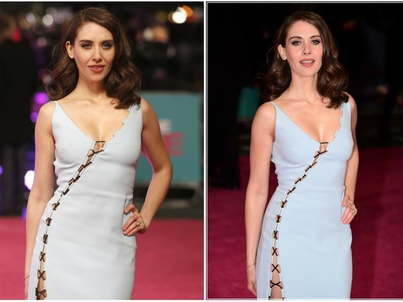 Sleeping With Other People actor Alison Brie stunned at the London premiere of her movie How to be Single. (Reuters)