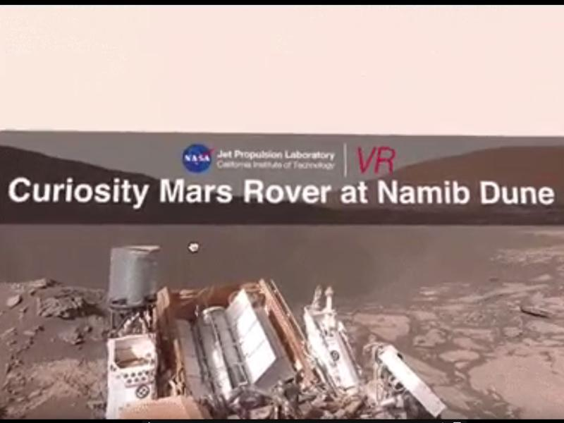 @MarsCuriosity tweeted a 360-degree YouTube video (MarsCuriosity) captured with the help of the Mars rover sent by NASA to explore the planet's surface.  (Twitter)