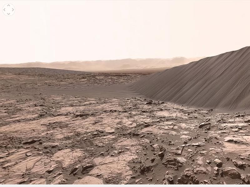 You can see the fine details such as cracks, erosion and metal deposits that give Mars its characteristic red colour.  (Youtube)