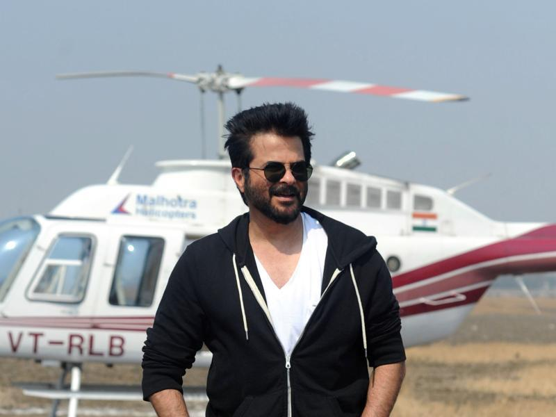 Anil Kapoor poses on location for the Indian adaptation version of the hit counter terrorism show 24 as season 2 is being made, in Mumbai.  (AFP)