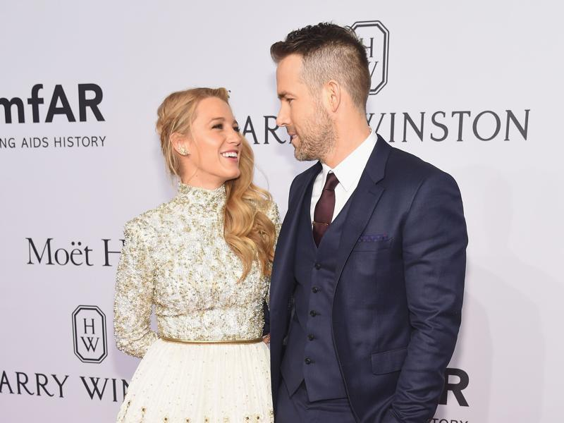 Actors Blake Lively and Deadpool star Ryan Reynolds attend 2016 amfAR New York Gala at Cipriani Wall Street. (AFP)