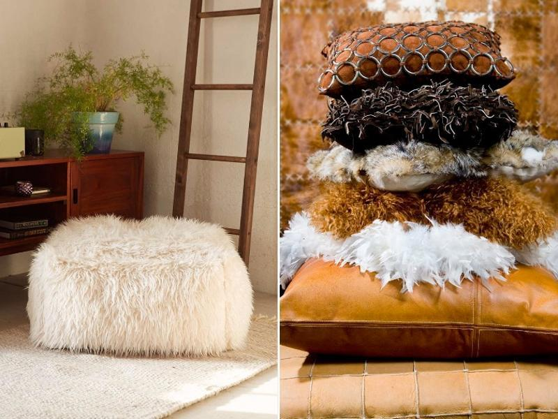 Fur, fur, and more fur. Whether it's faux or real, covering an accent pillow, or draped over a chaise lounge, fashion girls love fur, and they love it everywhere in their homes. Because really, there's no easier way to add a dose of glamour into a room. (PINTEREST)