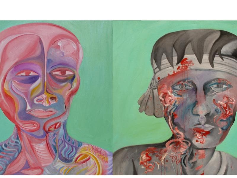 Beauty is Skin Deep Only, a diptych. (NGMA)