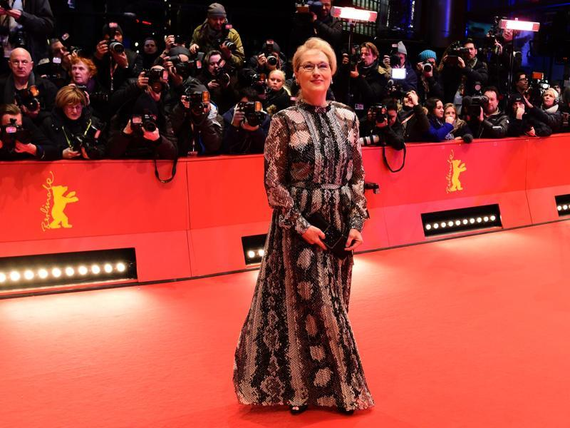 Meryl Streep, the jury president, also poses in all her awesomeness on the red carpet for the film Hail, Caesar! screening. (AFP)