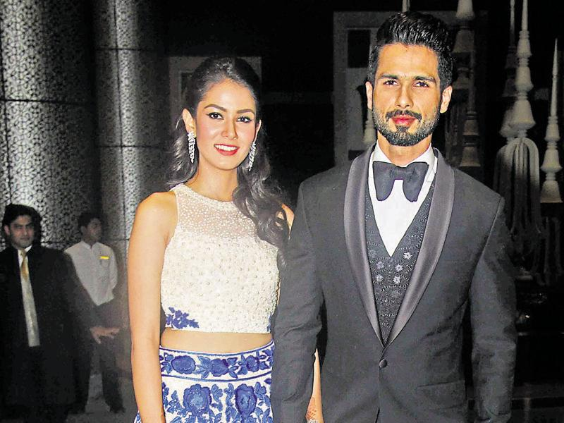 Shahid Kapoor and Mira Rajput affirm our belief in the age old institution of arranged marriages. The way Shahid praises his adorable 'baby-wife' Mira on Instagram, tells a lot about how ­besotted the actor is.  (Photo by Pramod Thakur/ Hindustan Times)