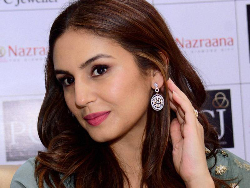 Huma Qureshi at the launch of a  jewellery showroom in Ahmedabad. (PTI)