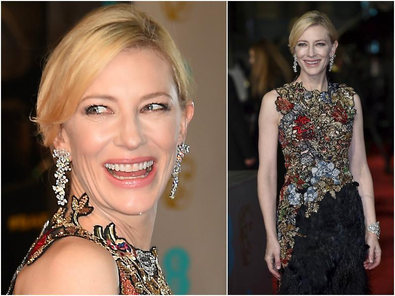 Cate Blanchett seems to be making the spring come a little early in her flowery dress. (agencies)