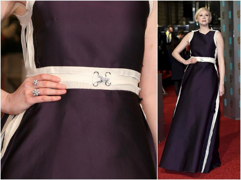 Gwendoline Christie in a sleek dark purple gown. We so need that ring right now. (Agencies)