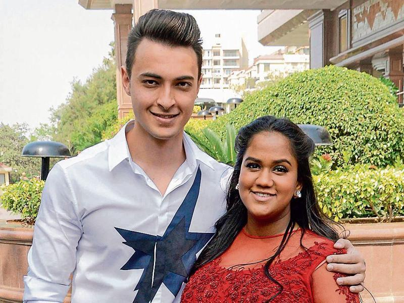 To be parents Aayush Sharma and Arpita Khan Sharma clicked together. (Yogen Shah)