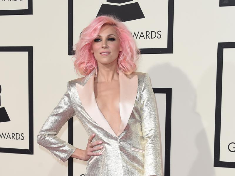 Singer Bonnie McKee arrives on the red carpet for the 58th Annual Grammy music Awards in Los Angeles February 15, 2016. (AFP)