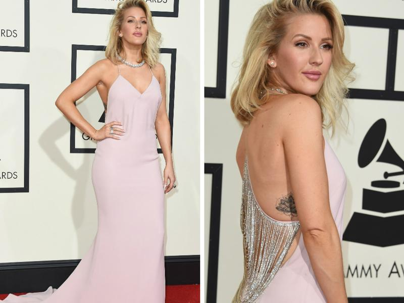 GOOD: Ellie Goulding stood out from the usual red carpet crowd in this stylish Stella McCartney. We just adore the look. (Reuters)