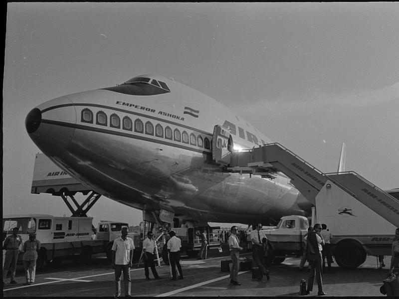 Air India's Jumbo Jet in 1971. (HT Archives)