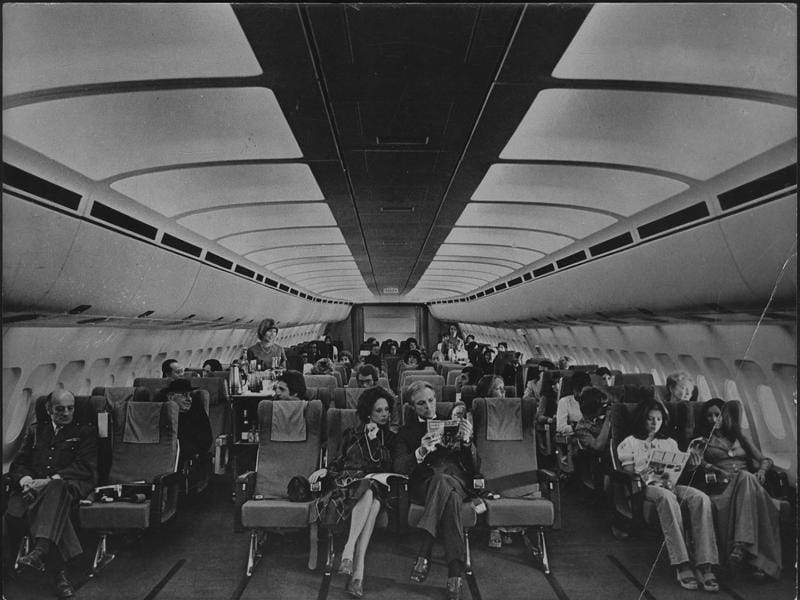 This is how an Airbus A300 looked from inside in the 1970s. (HT Archives)
