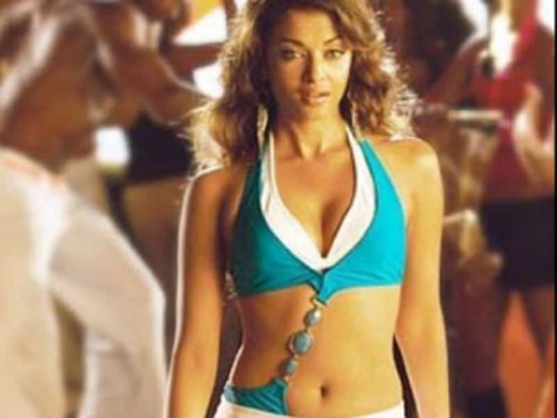 Aishwarya broke from her image to wear a bikini in Dhoom 2.