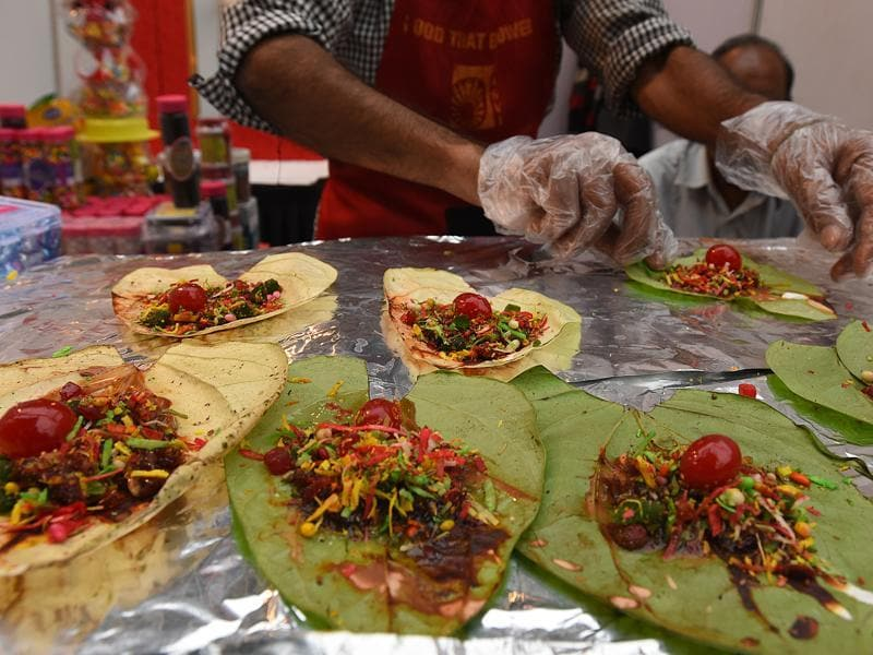And there's paan to finish off a seven-course street food meal. Perfect! (Raj K Raj / HT Photo)