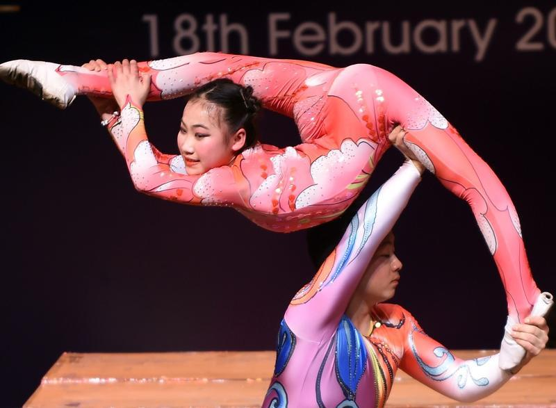 Founded in 1960, the acrobatic troupe has created and staged as many as 100 programmes since its inception. (AFP)