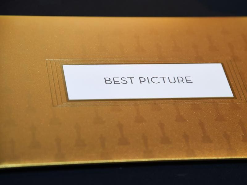 Envelopes and award announcement cards for the 88th Oscars are displayed at a preview of the food and décor of this year's Governors Ball, which will follow the 88th Oscars ceremony on February 28. (AFP)