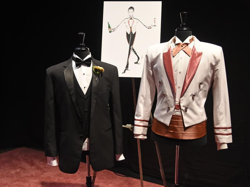 Servers' jackets for the Governors Ball, the official party following the Oscars, are displayed at a preview of the food and décor of this year's Governors Ball, which will follow the 88th Oscars ceremony. (AFP)