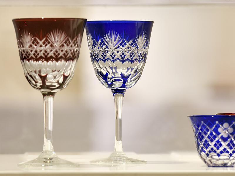 The Edo cut glass is made by carving sharp patterns into the clear, colourless surface of glass. (Photo by Raj K Raj / Hindustan Times) (Hindustan Times)