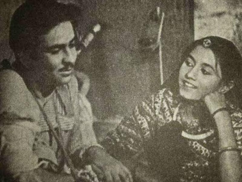 Raj Kapoor and Madhubala first appeared in lead roles with Kidar Sharma's Neel Kamal (1947). Madhubala was 14 at the time. (Youtube grab)
