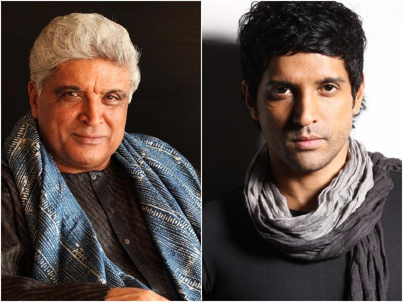Renowned poet, lyricist and scriptwriter Javed Akhtar and his son Farhan Akhtar.