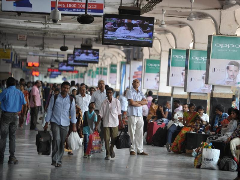 The Railway Budget 2016-17 unveiled the government's plan to provide WiFi services at 100 stations this year and 400 more stations over the next two years. (AFP Photo)