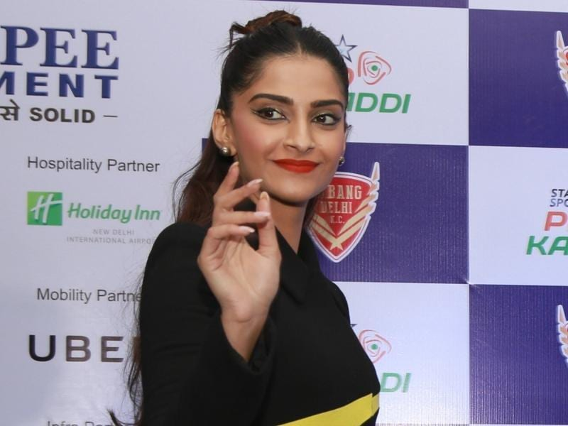 Sonam Kapoor at a promotional event for her latest film Neerja. (IANS)
