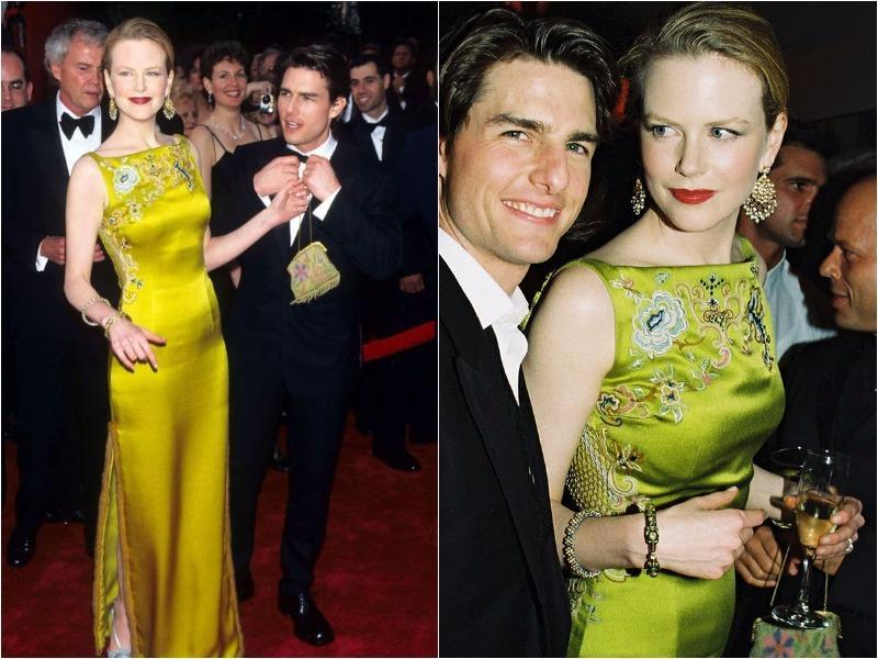 Despite a couple of her looks now seeming a little bit dated, Nicole Kidman has turned heads in an iconic dress at a number of Oscar ceremonies. The Grace of Monaco actress more than pulled off her bright-colored John Galliano for Christian Dior dress in 1997, accompanied by her then-husband, Tom Cruise. (Pinterest)