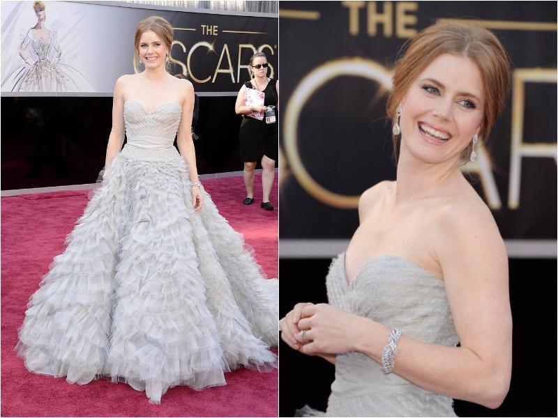 2013 saw Amy Adams get it very right in a feathered Oscar de la Renta design. (Pinterest)