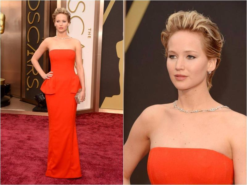 And 2014 was Jennifer Lawrence's time to shine. She picked a Dior floor-sweeper that was incredibly flattering to her trim hourglass curves. (Pinterest)
