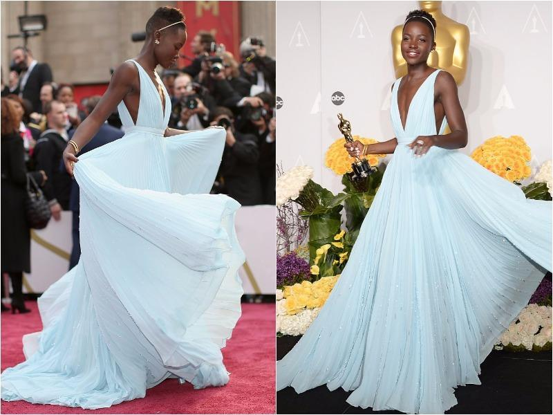 Oh and Lupita Nyong'O! The 12 Years a Slave star hit it out of the park with her Cinderella-like Prada gown in 2014, also winning the Best Supporting Actress Oscar that year for her work in the Steve McQueen-directed film. (Pinterest)