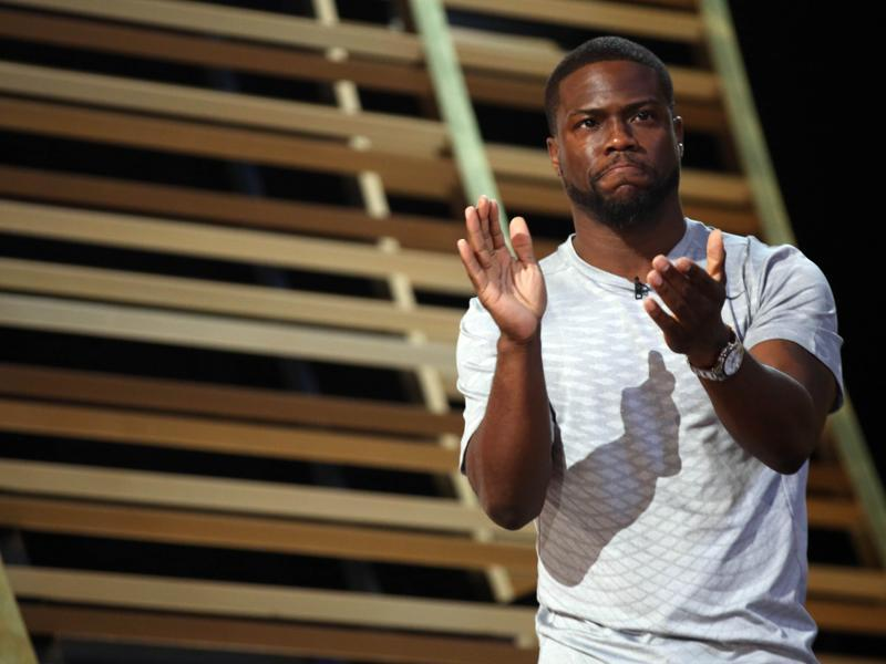 """Where am I sitting?"" Kevin Hart asked no one in particular. ""I was about to say all the black people should be in the first row."" (Matt Sayles/Invision/AP)"