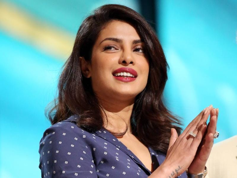 Priyanka Chopra appears during rehearsals. She will present an award during the evening. (Matt Sayles/Invision/AP)