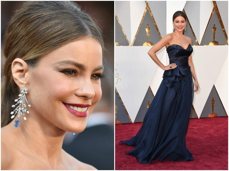 Sofia Vergara arrives at the 88th Academy Awards at the Dolby Theatre. (AP)