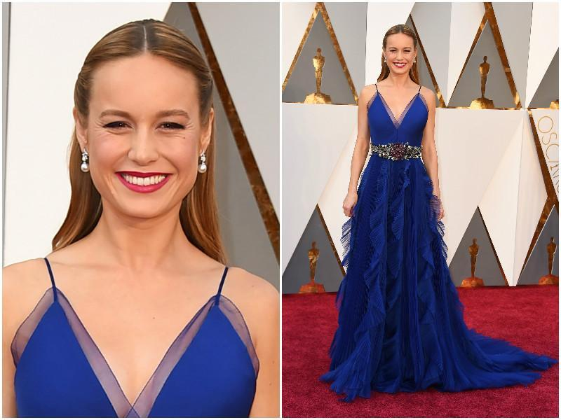 When you are going to win the Best Actress Award, you have to look brilliant like Brie Larson here in this oh so beautiful blue dress. She looks like a dream. (AP)