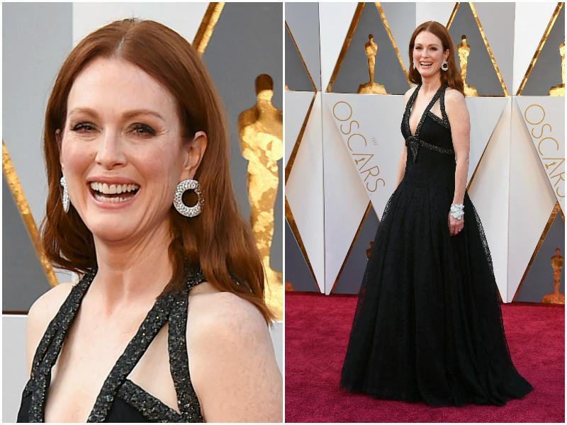 Julianne Moore's dress looks like we have seen it somewhere. Don't know where but at some award show. We'll get back to you on that. (Agencies)