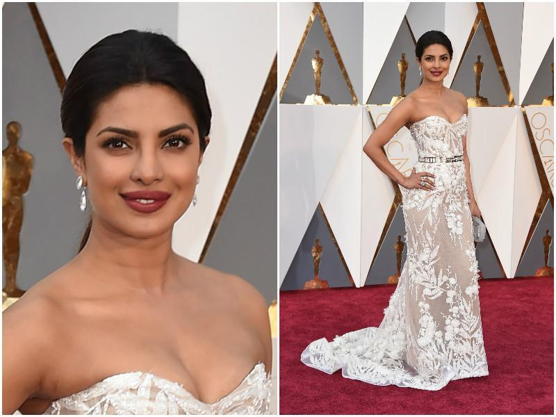 Priyanka Chopra has done it right. She looks stunning is this white number. (AP)